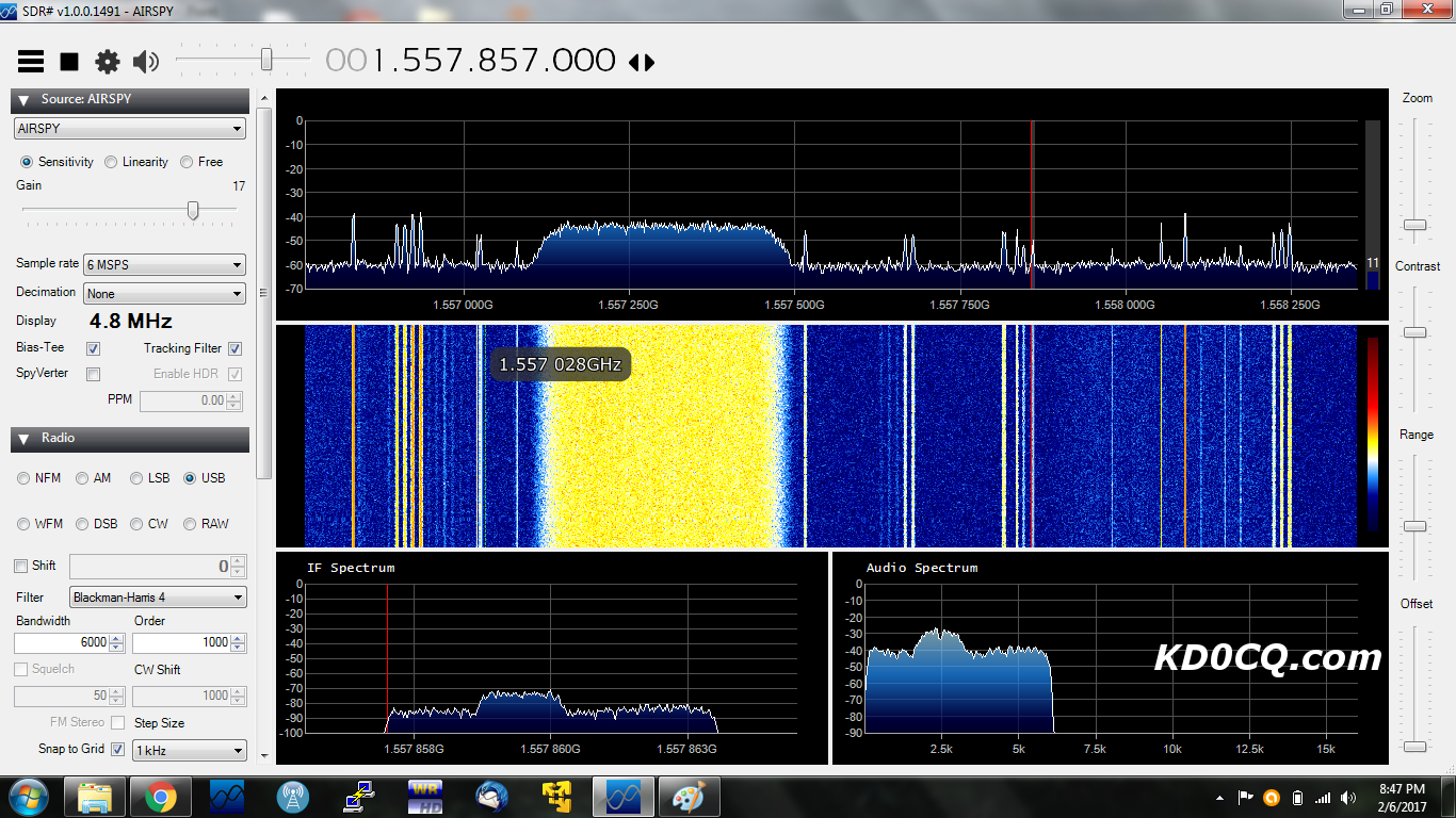 Exploring L-Band Satellites With Airspy Mini And A 1m Dish